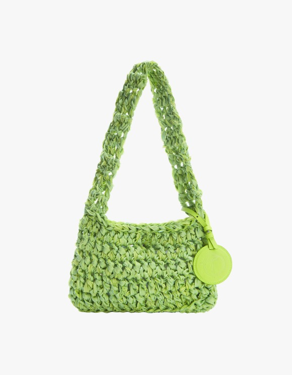 TheOpen Product Knitted Shoulder Bag Nothing Everything Collab - Yellowish Green | HEIGHTS. | 하이츠 온라인 스토어