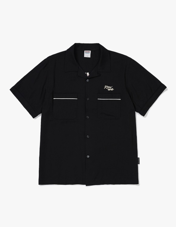 Know Wave [5월 27일 예약발송] Know Wave Bowling S/S Shirt - Black | HEIGHTS. | 하이츠 온라인 스토어