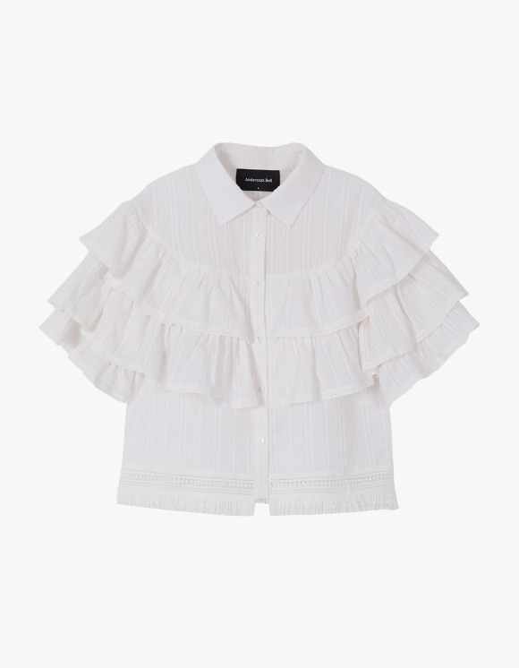 Andersson Bell Sasha Bohemian Ruffle Tiered Blouse - White | HEIGHTS. | 하이츠 온라인 스토어