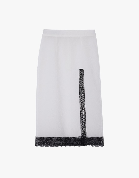 Andersson Bell Embo Flower Seethrough Skirt - White | HEIGHTS. | 하이츠 온라인 스토어