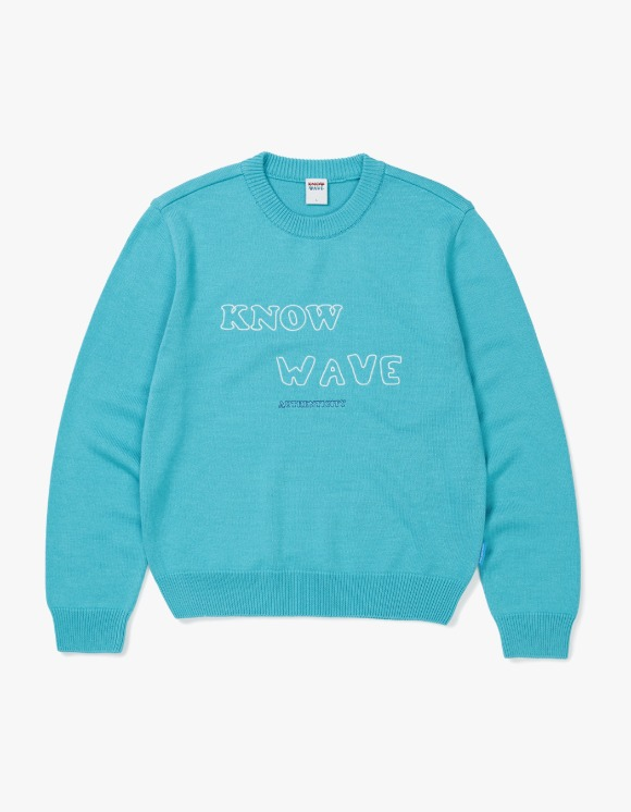 Know Wave Authenticity Sweater - Light Teal Blue | HEIGHTS. | 하이츠 온라인 스토어