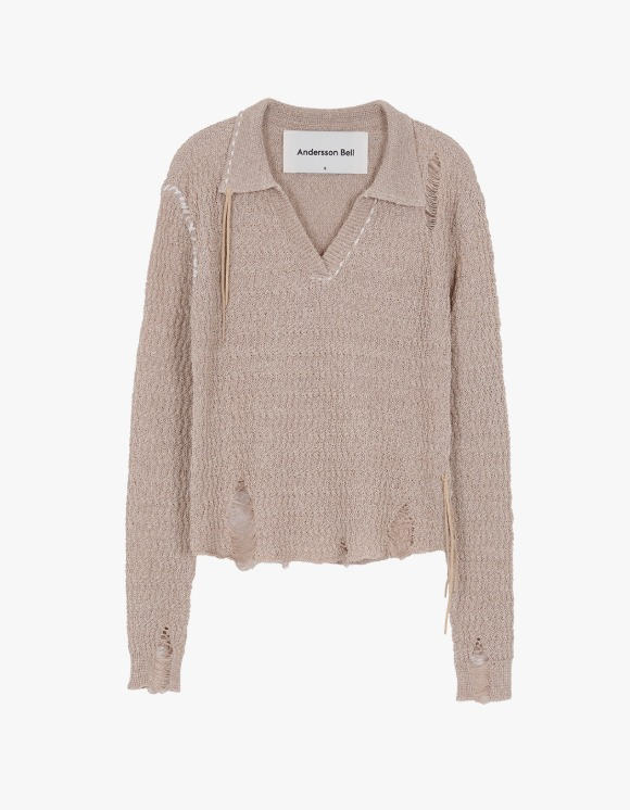 Andersson Bell Erica Damage Linen Knit Shirts - Beige | HEIGHTS. | 하이츠 온라인 스토어